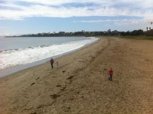 Utsikt til UCSB fra stranda.