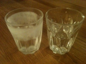 Glass som blir ugjennomsiktig