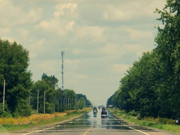 """Luftspeiling på motorveien. Bilde: """"A Highway Mirage"""", Michael Gil/FLickr/CC license."""