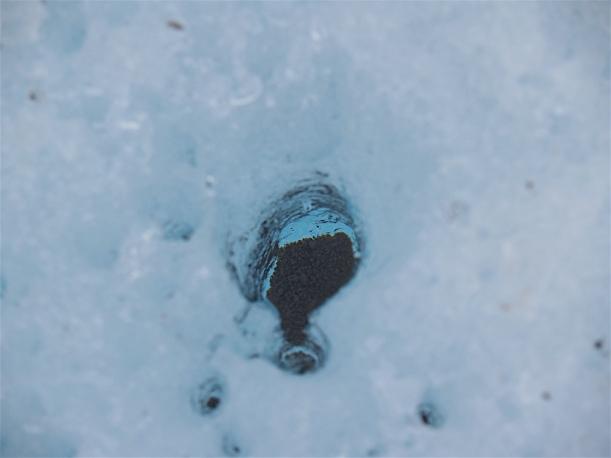 Grus-detalj fra isbre på Svalbard.